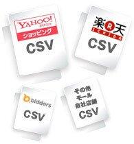 楽天市場・ヤフーショッピング・AmazonなどのCSVからの商品登録代行